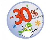 Sticker 30% HIVER 02