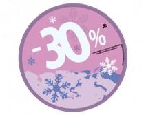 Sticker 30% HIVER 05