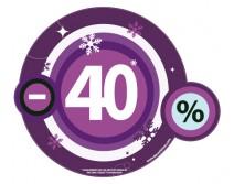 Sticker 40% HIVER 07