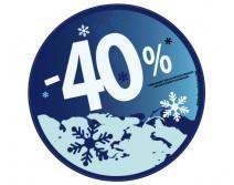Sticker 40% HIVER 10