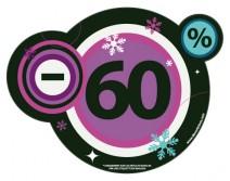 Sticker 60% HIVER 19