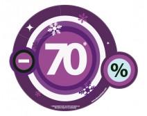 Sticker 70% HIVER 25