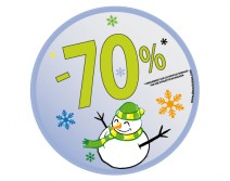 Sticker 70% HIVER 26