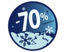 Sticker 70% HIVER 28