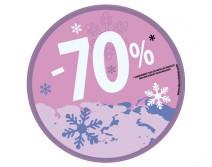 Sticker 70% HIVER 29