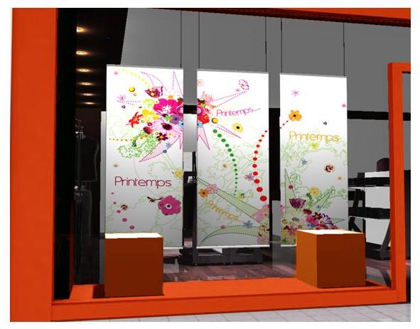 kakemono printemps 01 graphik decovitrines. Black Bedroom Furniture Sets. Home Design Ideas