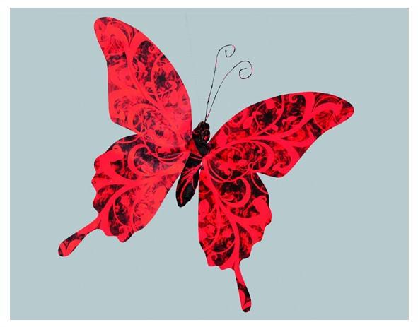 petit papillon rouge et noir decovitrines. Black Bedroom Furniture Sets. Home Design Ideas