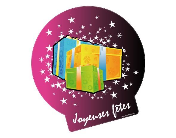 sticker de vitrine joyeuses f tes de noel sticker repositionnable noel. Black Bedroom Furniture Sets. Home Design Ideas