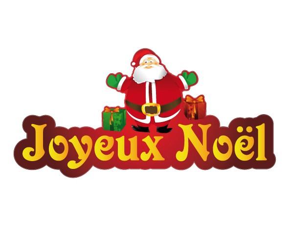 sticker joyeux noel p re noel et ses cadeaux. Black Bedroom Furniture Sets. Home Design Ideas
