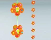 Guirlandes de fleurs oranges