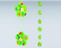 Guirlandes de fleurs vertes