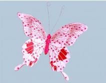Papillon géant rose