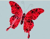 Papillon noir et rouge