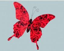 Petit papillon rouge et noir