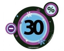 Sticker 30% HIVER 01