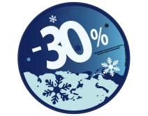 Sticker 30% HIVER 04