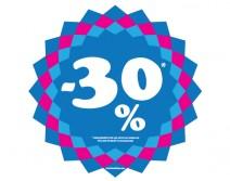Sticker 30% HIVER 07