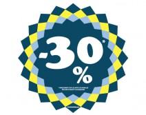 Sticker 30% HIVER 08
