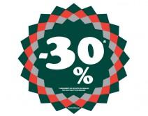 Sticker 30% HIVER 09