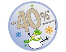 Sticker 40% HIVER 08
