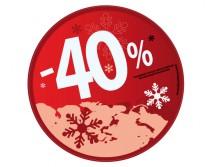 Sticker 40% HIVER 09