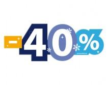 Sticker 40% HIVER 12