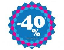 Sticker 40% HIVER 13