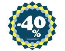 Sticker 40% HIVER 14