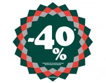Sticker 40% HIVER 15