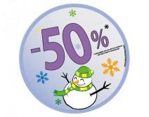 Sticker 50% HIVER 14