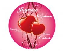 Sticker Joyeuse St Valentin rond