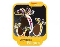 Sticker oeufs de Pâques 02