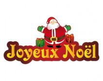 Sticker Pere Noel pour votre vitrine 02