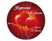 Sticker rond Saint Valentin 14 février