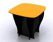 TABLE NOIRE + PLATEAU COULEUR