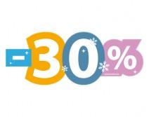 Sticker 30% HIVER 06