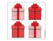 Sticker 4 cadeaux de Noël