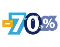 Sticker 70% HIVER 30