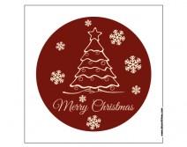 Sticker rond arbre de Noël