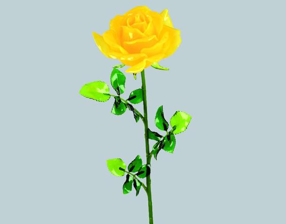 Rose jaune r aliste pour la d coration de vitrine de saint - Deco vitrine st valentin ...